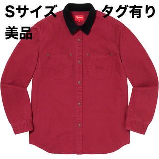 シュプリーム(Supreme)の美品 Supreme Script Canvas Snap Shirt Sサイズ(シャツ)