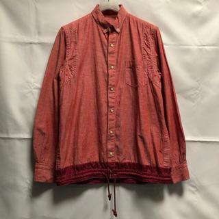 サカイ(sacai)の美品 sacaiドローコードシャツ Sサイズ レッド(シャツ)