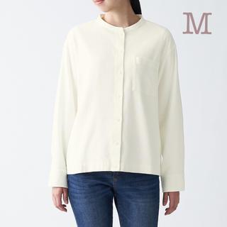 ムジルシリョウヒン(MUJI (無印良品))の無印良品    新疆綿フランネルスタンドカラーシャツ  婦人M・オフ白(シャツ/ブラウス(長袖/七分))