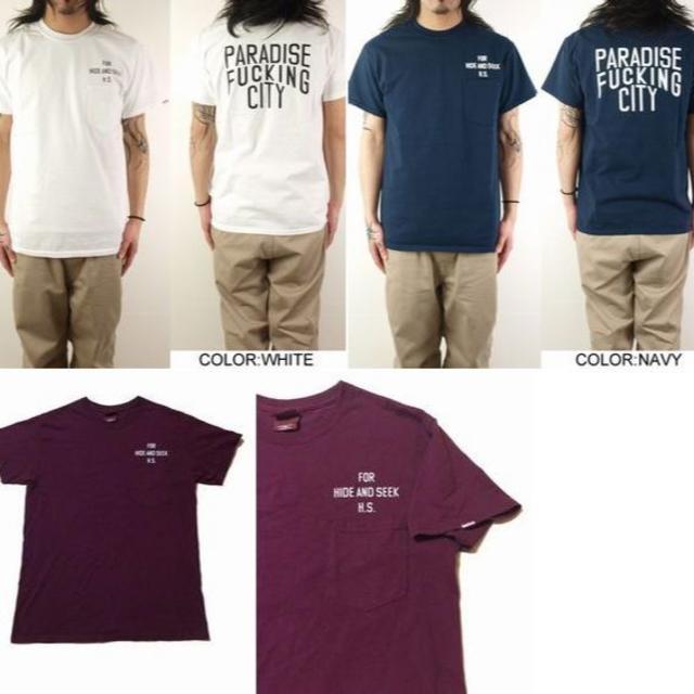 HIDE AND SEEK(ハイドアンドシーク)のHIDE AND SEEK A FU CITY POCKET S/S TEE メンズのトップス(Tシャツ/カットソー(半袖/袖なし))の商品写真