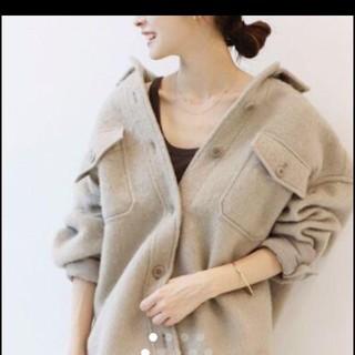 プラージュ(Plage)の新品タグ付 Plage プラージュ  シャギージャケット コート☆ベージュ 36(シャツ/ブラウス(長袖/七分))
