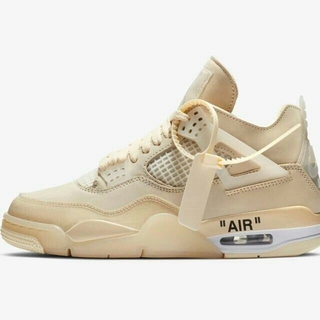 ナイキ(NIKE)のNIKE WMNS AIR JORDAN 4 off-white  26.5cm(スニーカー)