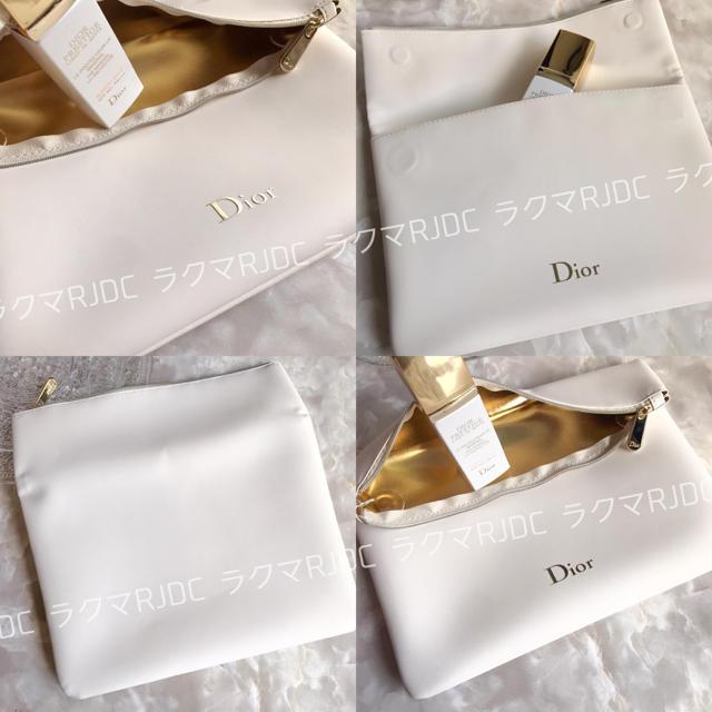Christian Dior(クリスチャンディオール)の【新品箱なし】ディオール スリムポーチ クラッチバッグ 折りたたみ 非売品 レディースのファッション小物(ポーチ)の商品写真