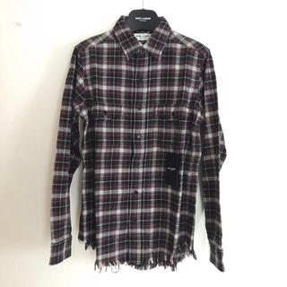 サンローラン(Saint Laurent)の新品!SAINT LAURENT ユーズド加工チェックシャツ サイズS(シャツ)