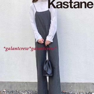 カスタネ(Kastane)の新品タグ付き KASTANEカスタネ BACKリボンツイードサロペット  (サロペット/オーバーオール)