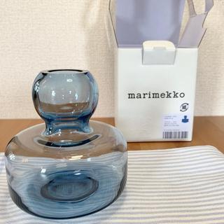マリメッコ(marimekko)のFlower フラワーベース【dark blue】(花瓶)
