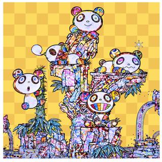 村上隆 パンダ子パンダパンダ 限定300枚 直筆サイン付 オフセット+金箔印刷(版画)