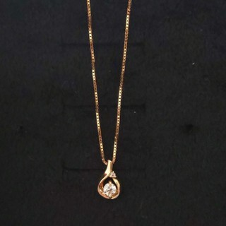 K18 ダイヤモンドネックレス ベネチアンチェーン
