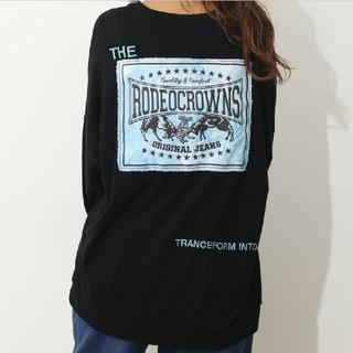 ロデオクラウンズワイドボウル(RODEO CROWNS WIDE BOWL)の新品レディースのブラック※早い者勝ちノーコメント即決しましょう❗️コメントは❌(Tシャツ(長袖/七分))