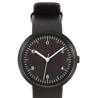 MUJI (無印良品) - 無印良品 腕時計 ウォールクロック 黒