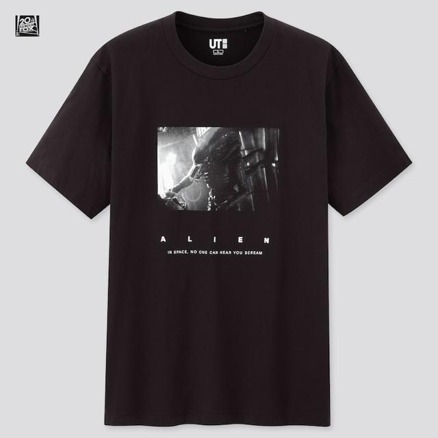 UNIQLO(ユニクロ)の新品 ユニクロ UT Tシャツ エイリアン 黒 S メンズのトップス(Tシャツ/カットソー(半袖/袖なし))の商品写真