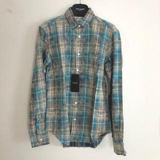 サンローラン(Saint Laurent)の新品!SAINT LAURENT ユーズド加工ブリーチチェックシャツ サイズ37(シャツ)