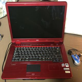 エヌイーシー(NEC)のNECノートパソコン赤(ノートPC)