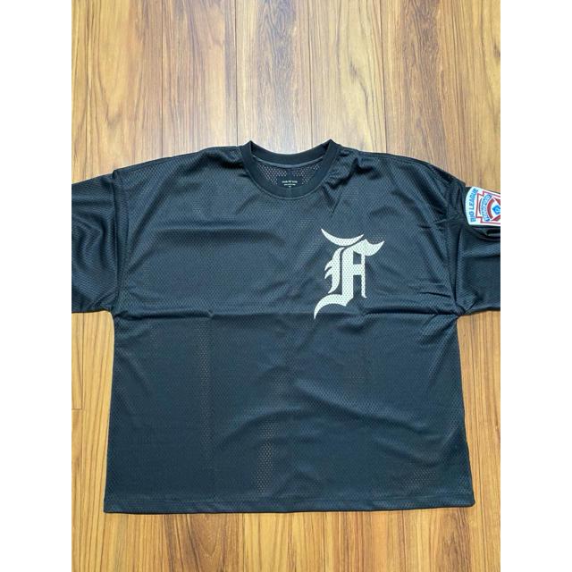 FEAR OF GOD(フィアオブゴッド)のFEAR OF GODワッペンメッシュベースボールシャツ メンズのトップス(Tシャツ/カットソー(半袖/袖なし))の商品写真