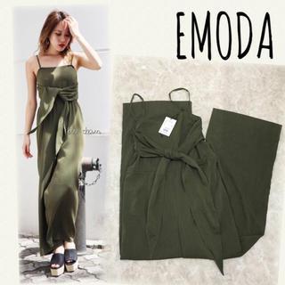 エモダ(EMODA)のEMODA♡ビスチェワイドジャンプスーツ(オールインワン)