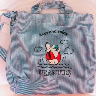ピーナッツ(PEANUTS)の新品未使用タグ付き PEANUTS SNOOPY スヌーピー バッグ エコバッグ(エコバッグ)