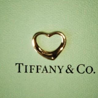 Tiffany & Co. - ティファニー  オープンハート 750K18 ペントップ