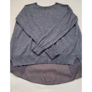 SCOT CLUB - 薄手ニット  異素材 長袖