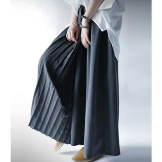 antiqua - アンティカ プリーツ加工切り替え スカート見え ワイドパンツ スカンツ