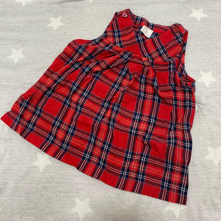エイチアンドエム(H&M)のH&M  ベビー服  チェックワンピース(ワンピース)