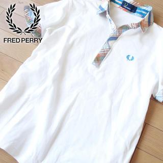 フレッドペリー(FRED PERRY)の超美品 S フレッドペリー レディース 半袖ポロシャツ ホワイト(ポロシャツ)