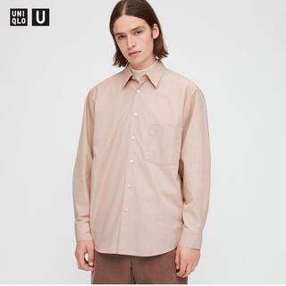 Uniqlo U ユニクロユー 今季秋冬 ブロードストライプシャツ ピンク L