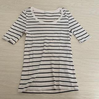 UNIQLO - ボーダーカットソー ユニクロ 半袖 Tシャツ