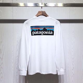 patagonia - 新品 Patagonia ロングTシャツ  Lサイズ  ブラック+ホワイト