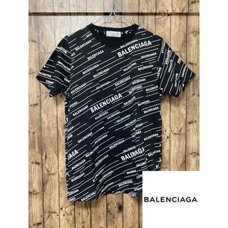 Balenciaga - BALENCIAGA ロゴラインTシャツ