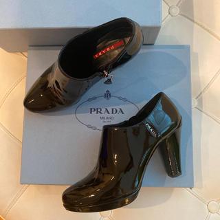プラダ(PRADA)の【ma♡様専用】プラダ  ブーティー ショートブーツ 36 23 黒 ブラック(ブーティ)