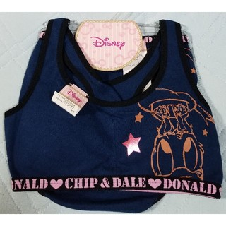 Disney - ドナルド&チップとデール 150cm スポブラ+ショーツ上下セット ブラジャー