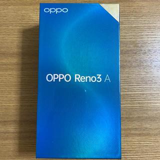アンドロイド(ANDROID)の【新品未開封】OPPO Reno3 A 国内版SIMフリー ブラック 送料無料(スマートフォン本体)