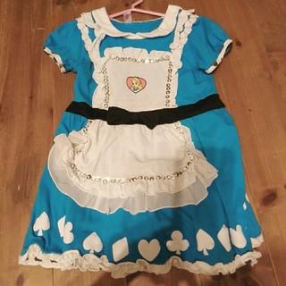 フシギノクニノアリス(ふしぎの国のアリス)の不思議の国のアリスハロウィン仮装コスチュームキッズ110120ディズニー女の子(衣装)