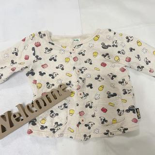 ディズニー(Disney)のキッズ ミッキー カーディガン 新品 80(カーディガン/ボレロ)