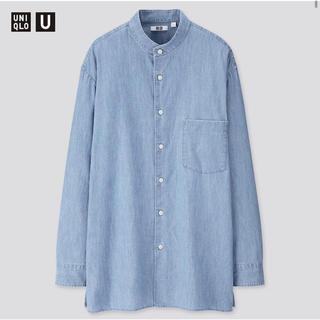 新品タグ付き UNIQLO U デニムスタンドカラーシャツ ユニクロ