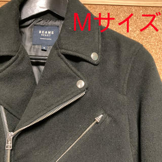 ビームス(BEAMS)の[ Mサイズ ] ライダースジャケット 黒(ライダースジャケット)