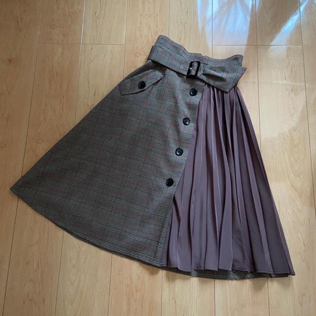 Rirandture(リランドチュール)のリランドチュール   チェックスカート レディースのスカート(ひざ丈スカート)の商品写真