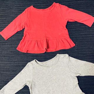 ユニクロ(UNIQLO)のユニクロ フリフリロンティー70cm 双子 色違いあり(Tシャツ)