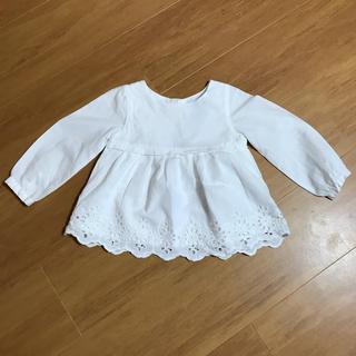 babyGAP - ベビーギャップ コットンレースブラウス ホワイト 80サイズ 長袖