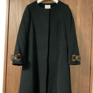 anatelier - アナトリエ  ミンクファー リボン アンゴラ ノーカラー コート 黒 38 M