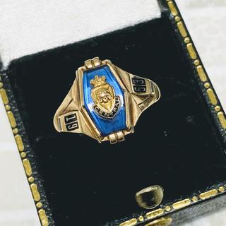 ◆激レア◆10金無垢◆10K◆カレッジリング◆ジャストサイズ◆12号(リング(指輪))