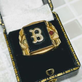◆激レア◆10金張り◆10KGF◆カレッジリング◆ジャストサイズ◆19号(リング(指輪))