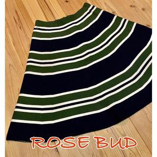 ローズバッド(ROSE BUD)のROSE  BUDフレアスカート(ひざ丈スカート)