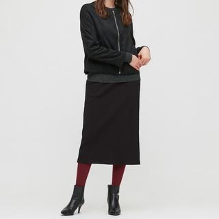 UNIQLO - リブスカート ブラック XS