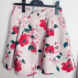 デイシー(deicy)のデイシー スカート 花柄 パネルフラワー ピンク(ミニスカート)