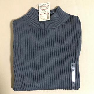MUJI (無印良品) - 無印良品 XL 首のチクチクをおさえたワイドリブ編みハイネックセーター ニット