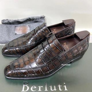 ベルルッティ(Berluti)の国内正規品 新品同様 ベルルッティ アンディ ローファー クロコダイル 8 !(ドレス/ビジネス)