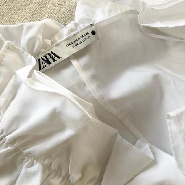 ZARA(ザラ)のZARA(ザラ)フリルカットソー レディースのトップス(カットソー(半袖/袖なし))の商品写真