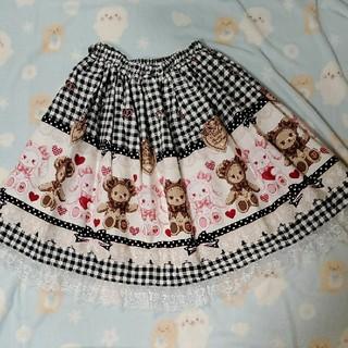 ベイビーザスターズシャインブライト(BABY,THE STARS SHINE BRIGHT)のくみゃちゃんのsweet heart check スカート(ひざ丈スカート)