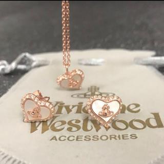 Vivienne Westwood - 新品 パールネックレスピアスセット ピンクゴールド